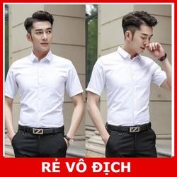 [ SIÊU RẺ] Áo sơ mi nam cộc tay kiểu dáng Hàn Quốc - Trắng