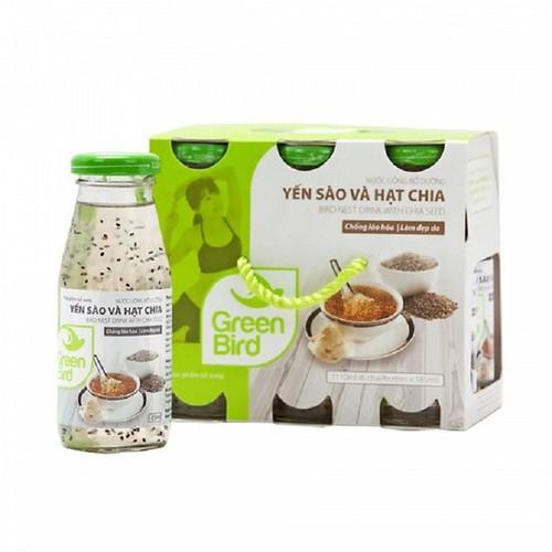 6 hộp nước uống bổ dưỡng yến sào và hạt chia green bird 6 hũ 185ml - 12128015 , 19980203 , 15_19980203 , 250000 , 6-hop-nuoc-uong-bo-duong-yen-sao-va-hat-chia-green-bird-6-hu-185ml-15_19980203 , sendo.vn , 6 hộp nước uống bổ dưỡng yến sào và hạt chia green bird 6 hũ 185ml