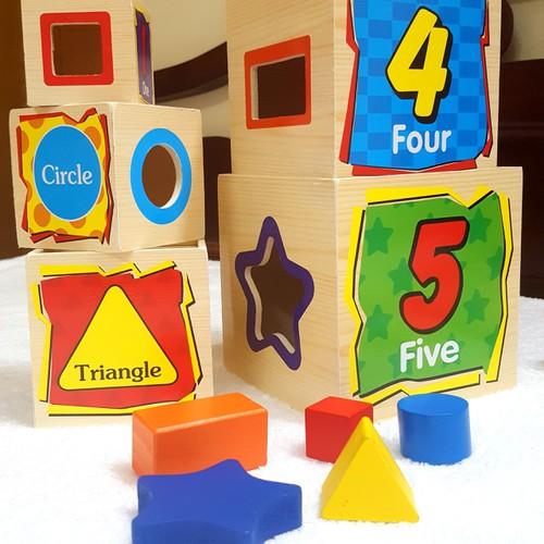 Bộ thả hình tháp 5 tầng - thả hình - lồng hộp - xếp chồng