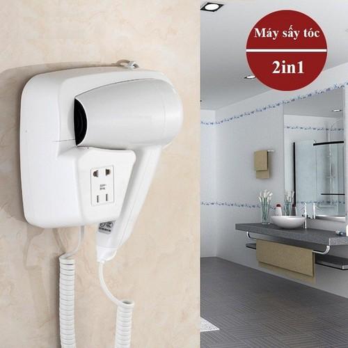 Máy sấy tóc treo tường  kiêm ổ cắm điện thông minh