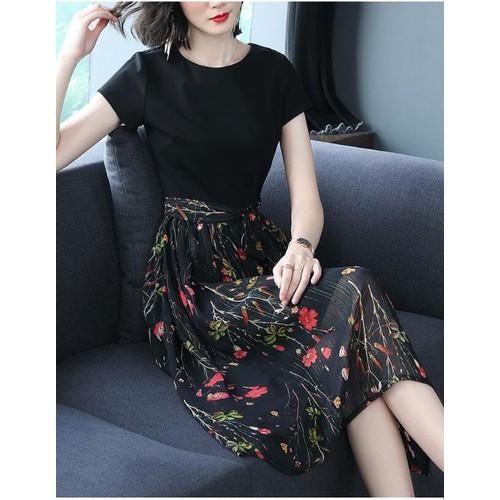 Đầm xoè chân hoa cao cấp k-93-270