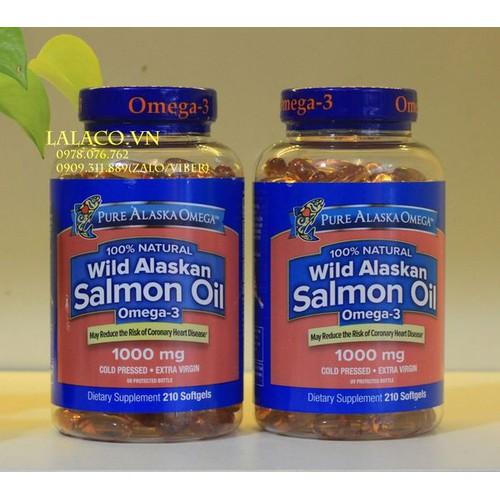Viên uống dầu cá hồi pure alaska omega-3 wild salmon oil 1000mg mỹ