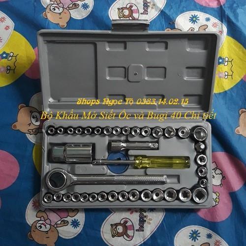 Bộ khẩu mở siết ốc và bugi 40 chi tiết - 12236669 , 19987803 , 15_19987803 , 149000 , Bo-khau-mo-siet-oc-va-bugi-40-chi-tiet-15_19987803 , sendo.vn , Bộ khẩu mở siết ốc và bugi 40 chi tiết