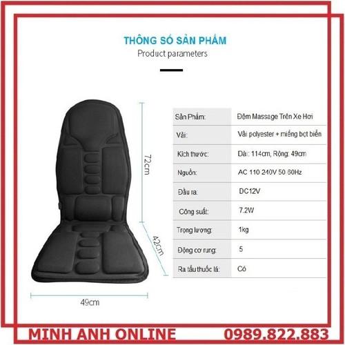 Đệm ghế massage toàn thân cao cấp trên ô tô - 12234881 , 19985097 , 15_19985097 , 420000 , Dem-ghe-massage-toan-than-cao-cap-tren-o-to-15_19985097 , sendo.vn , Đệm ghế massage toàn thân cao cấp trên ô tô