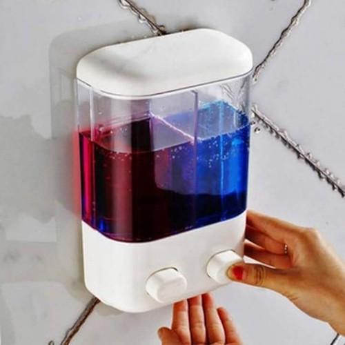 Hộp nhả dầu gội sữa tắm nước rửa tay 2 ngăn cao cấp