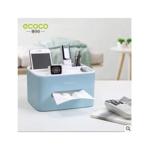 Hộp đựng giấy ăn kèm khay để điều khiển điện thoại ecoco bán buôn giá rẻ