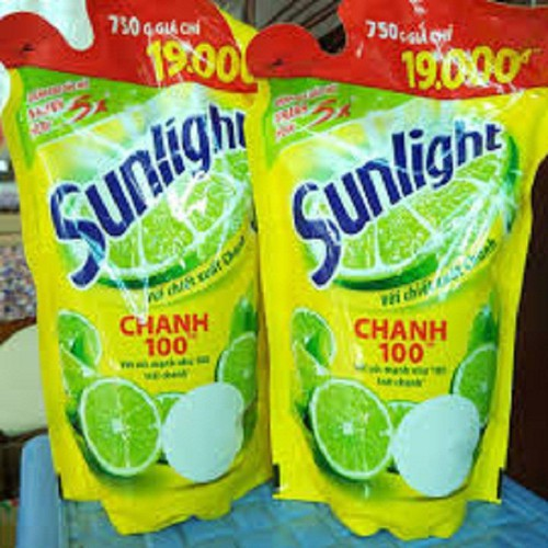 Combo 2 nước rửa chénsunlight chanh túi 750g
