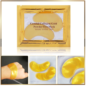 Combo 10 Mặt nạ mắt Crystal Collagen Gold Powder Eye Mask - mắt gold