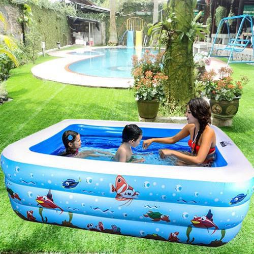Bể phao bơi 1m5 cao 3 tầng cho bé bán buôn giá rẻ