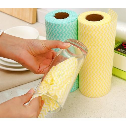 Cuộn khăn lau đa năng homeeasy 50 miếng giấy lau bán buôn giá rẻ