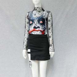 Set trang phục chân váy áo lưới ba lỗ Mã: MB002