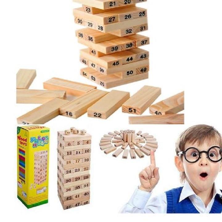 Đồ chơi rút gỗ thông minh giúp trẻ sáng tạo - đồ chơi rút gỗ