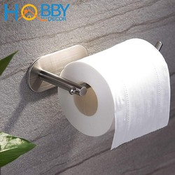 Móc treo cuộn giấy toilet dán tường gạch men, Móc treo giấy vệ sinh phòng tắm INOX SUS304 dán tường không rỉ sét - HOBBY G8
