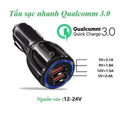 Tẩu sạc nhanh 2 USB Qualcomm - QC 3.0