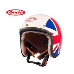 Mũ bảo hiểm 3-4 Andes Luxury 382DB tem Anh bóng Lót Tháo Rời