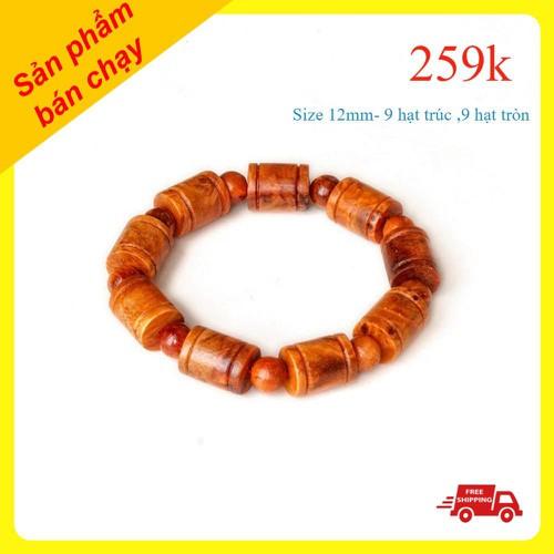 [Siêu sale] vòng gỗ huyết long - vòng tay phong thủy huyết rồng - vòng huyết long nu đốt trúc