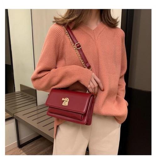 Túi đeo chéo nữ thời trang t71 size 20x14x7cm dây đeo chéo xích phụ kiện thời trang nữ