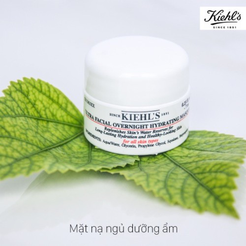 Mặt nạ ngủ kiehl's ultra facial overnight hydrating masque 7ml - travel size