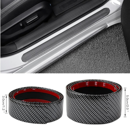 Cuộn cacbon 5D dán bước chân cửa xe, dán cốp xe trang trí và chống xước xe ô tô Dài 2,5M: Có 3 kích thước Rộng 3CM, 5CM, 7CM
