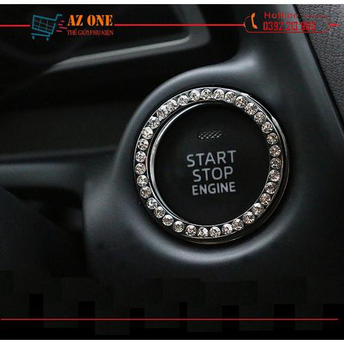 Vòng đính đá trang trí nút khởi động xe hơi