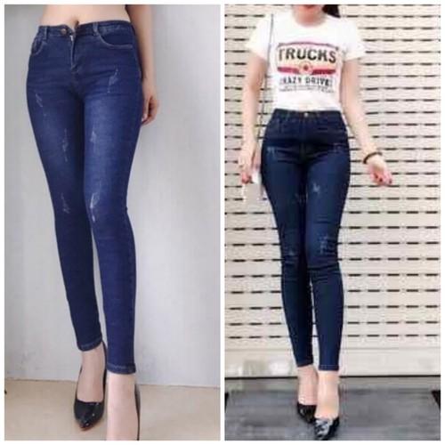 Quần jeans nữ cào co giãn cao cấp