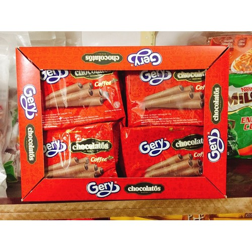Bánh quế nhân kem socola hiệu Gery đến từ Indonesia ngon bá cháy