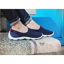 Giày vải chun crocs- skimmer xanh than đế trắng cho nữ