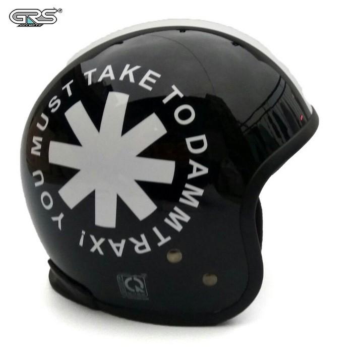 Mũ bảo hiểm GRS A360 - Tem Đen Trắng 2 - GRS A360TDT2