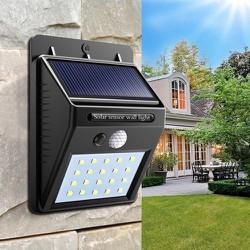 [miễn phí vận chuyển toàn quốc]-Đèn năng lượng solar powered Led wall Light chống trộm