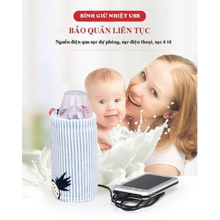 Túi Hâm Sữa Thông Minh -Dùng Cổng Sạc USB - Phù hợp các loại bình - RB01 thumbnail