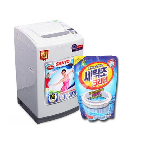 [Sỉ giá sốc] set 10 túi bột tẩy vệ sinh lồng máy giặt nhập khẩu hàn quốc 450g