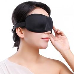 Bộ Bịt Mắt Ngủ 3D Tặng Kèm Bịt Tai Chống Ồn Màu Ngẫu Nhiên