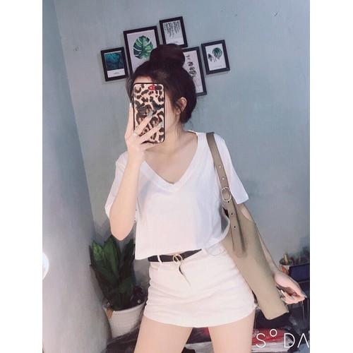 Áo croptop nữ trơn
