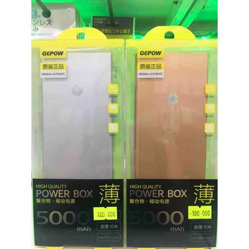 PIN SẠC DỰ PHÒNG GEPOW 5000mAh, giúp sạc điện thoại với lưu lượng pin tích trữ lớn và đồng thời được thiết kế chắc chắn độ bền cao, an toàn khi sử dụng. - 11677744 , 20041729 , 15_20041729 , 190000 , PIN-SAC-DU-PHONG-GEPOW-5000mAh-giup-sac-dien-thoai-voi-luu-luong-pin-tich-tru-lon-va-dong-thoi-duoc-thiet-ke-chac-chan-do-ben-cao-an-toan-khi-su-dung.-15_20041729 , sendo.vn , PIN SẠC DỰ PHÒNG GEPOW 5000mA