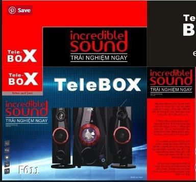 LOA BLUETOOTH TELEBOX F611 , HÁT THẺ NHỚ, USB, LOA 2.1
