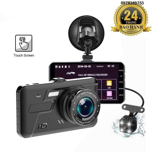 Camera xe hơi màn hình cảm ứng 2 camera trước sau