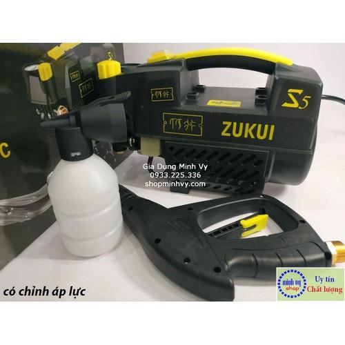Máy xịt rửa xe zukui s5 [osaka zj] - 2400w - có chỉnh áp-tặng kèm bình xà phòng