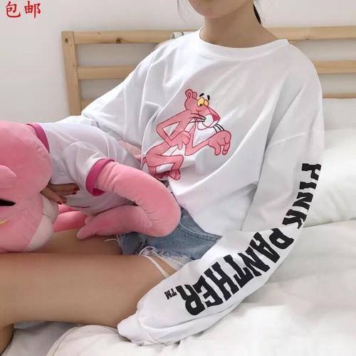 Áo thun nữ pink panther dễ thương