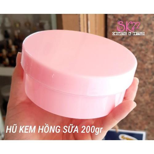 Set 10 hũ kem nhựa hồng-trăng 200gr