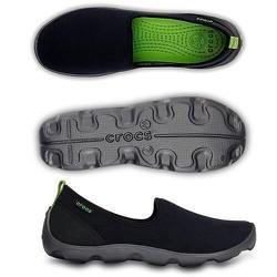 Giày vải chun crocs- skimmer đen đế đen cho nữ