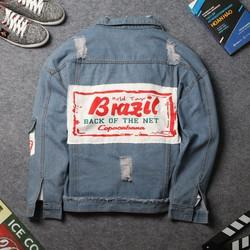 Áo khoác jean namDD420 shop ĐỊCH ĐỊCH | áo khoác unisex
