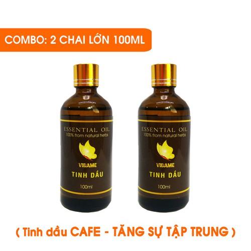 Combo 2 tinh dầu café 100ml tăng sự tập trung làm việc học tập hiệu quả