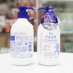 [NỘI ĐỊA NHẬT][Hỗ trợ 15k Ship]Sữa dưỡng thể trắng da chống nắng Hatomugi