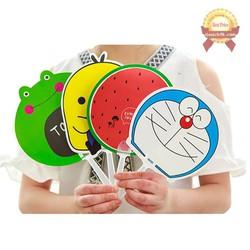 Combo 2 Quạt nhựa cầm tay cute dễ thương hình thú hoa quả | Quạt tròn cầm tay BTS