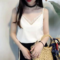 Áo 2 dây viền ren Quảng Châu