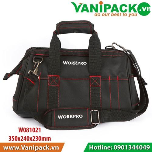 Túi đựng công cụ dạng khóa kéo 350x240x230mm Workpro W081021