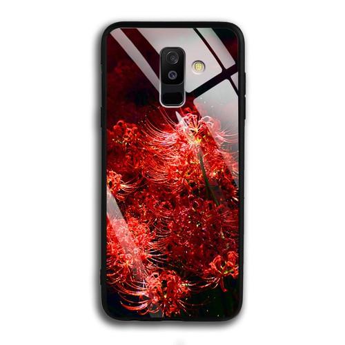 Ốp Lưng Hoa Bỉ Ngạn cho Samsung Galaxy A6 Plus - Mặt Kính Cường Lực - 0592 HOABINGAN03