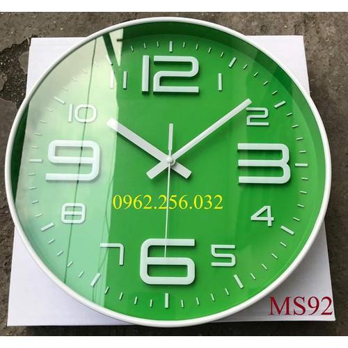 [Hàng chính hãng] đồng hồ treo tường kim trôi cao cấp kiểu dáng thể thao, trẻ trung