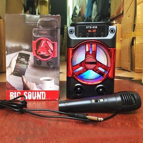 Rẻ mà chất - loa xách tay karaoke - loa bluetooth hát karaoke kts-936 tặng kèm mic siêu hot