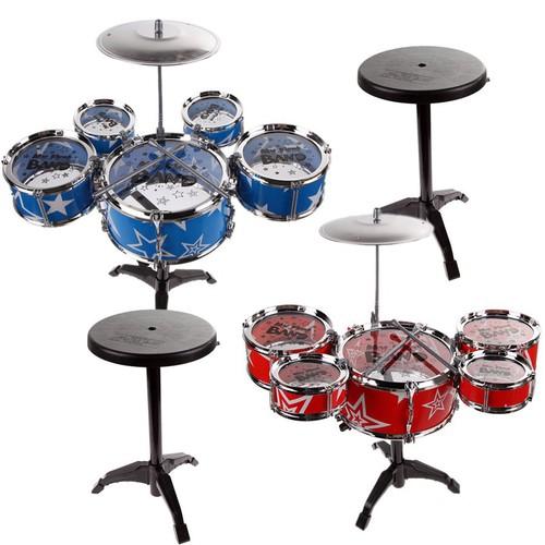 Tặng vòng tay may mắn bộ trống jazz drum 5 trống cho bé màu ngẫu nhiên đồ chơi giải trí giúp bé phát triển tư duy - bộ trống jazz drum 5 trống cho bé